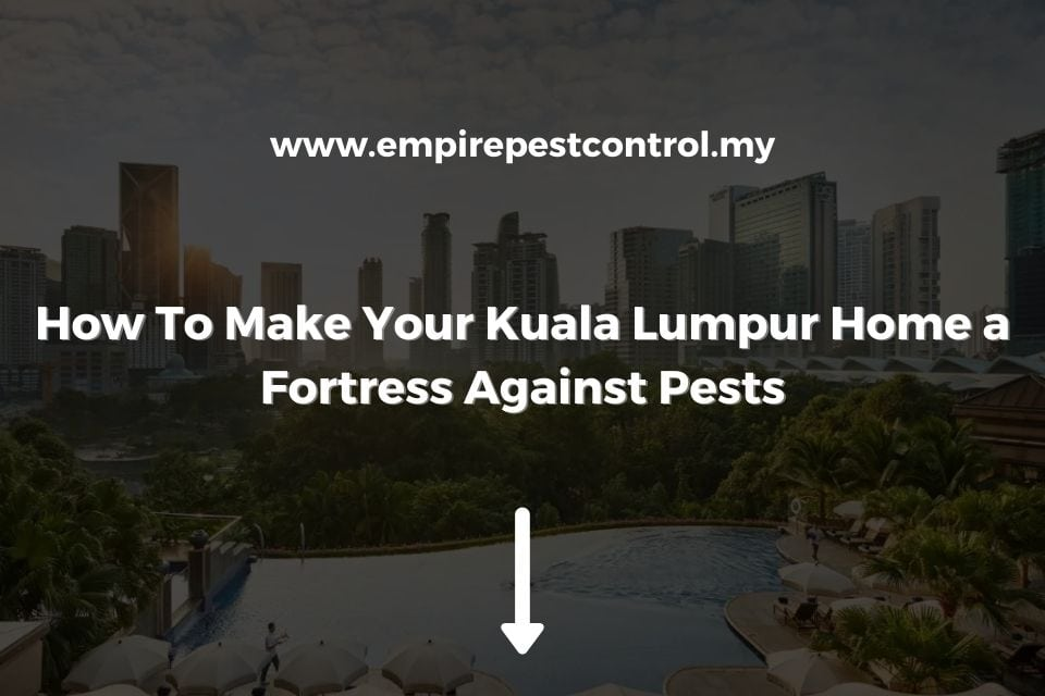 How To Make Your Kuala Lumpur Home Fortress Against Pests