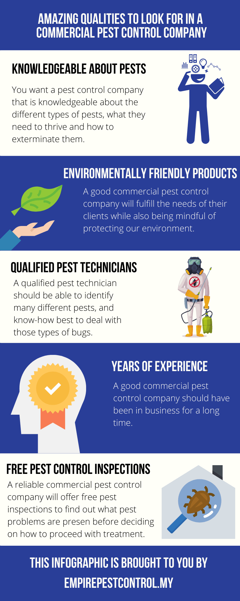 Qualities of Commercial Pest Control Company Infographic
